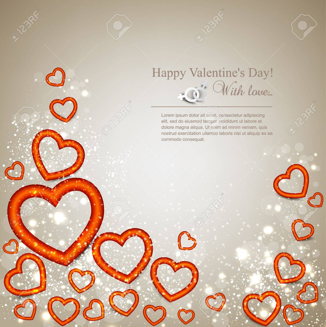 Elegant background with hearts  Valentine Stock Vector - 16874158