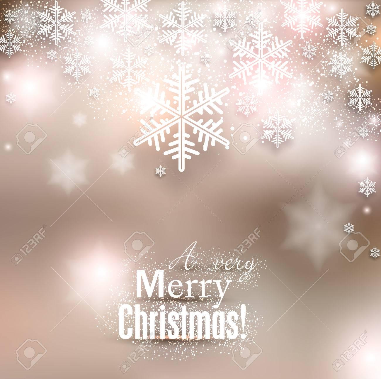 Sfondi Natalizi Eleganti.Elegante Sfondo Di Natale Con I Fiocchi Di Neve E Il Luogo Per Il Testo Illustrazione Vettoriale