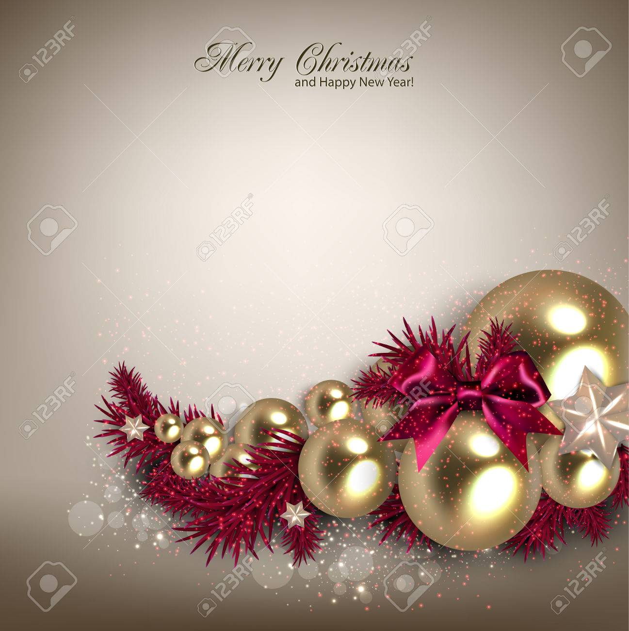 Elegant  background with Christmas garland. Vector illustration Stock Vector - 23196197