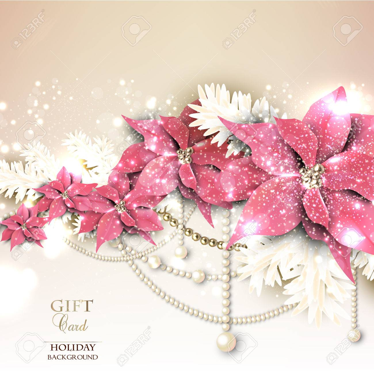 Elegant  background with Christmas garland. Vector illustration Stock Vector - 23833229