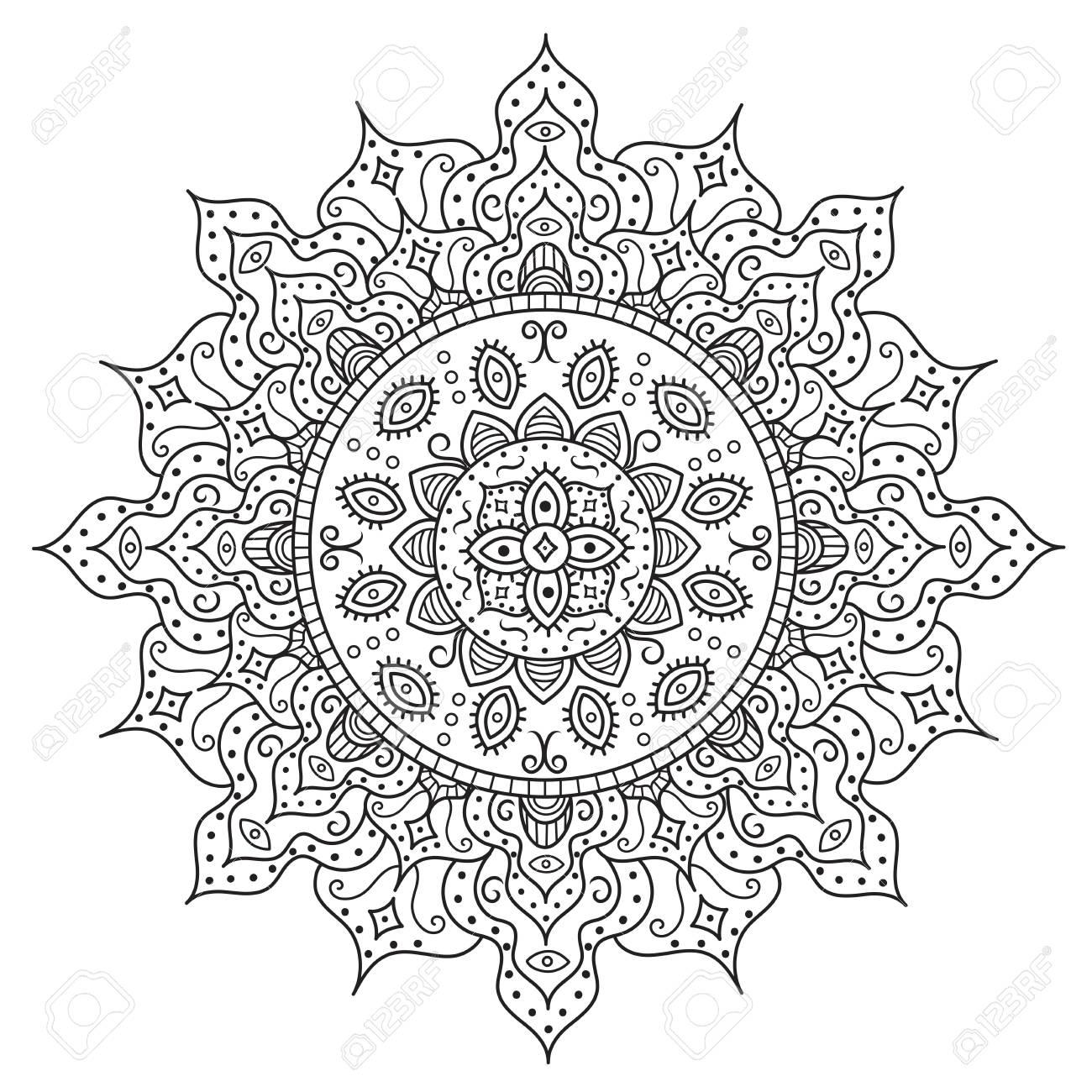 Beautiful Deco Mandala Vintage Round Ornament Vector Illustration