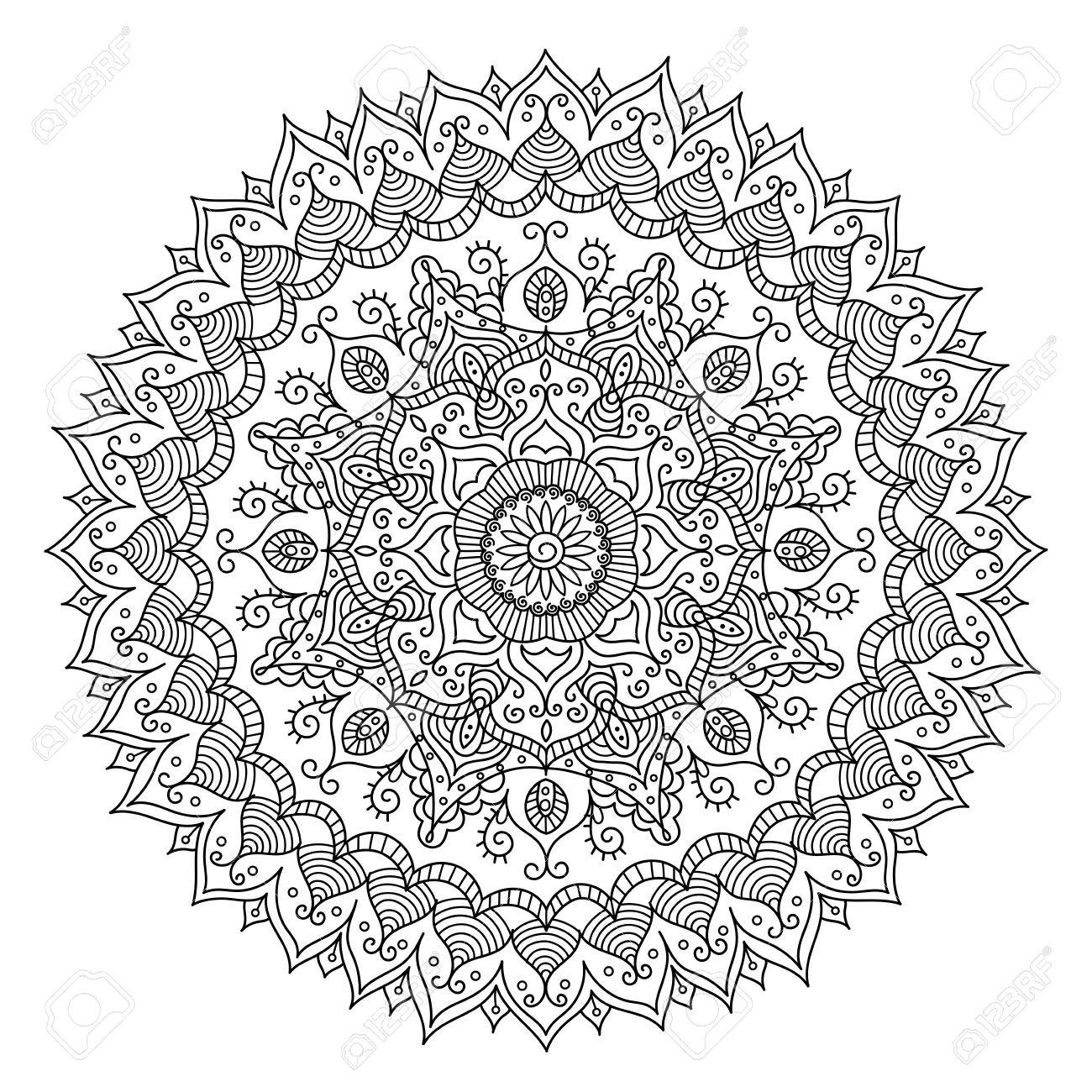 Vintage Mandala. Vector Round Ornament Tribal Pattern. Great ...