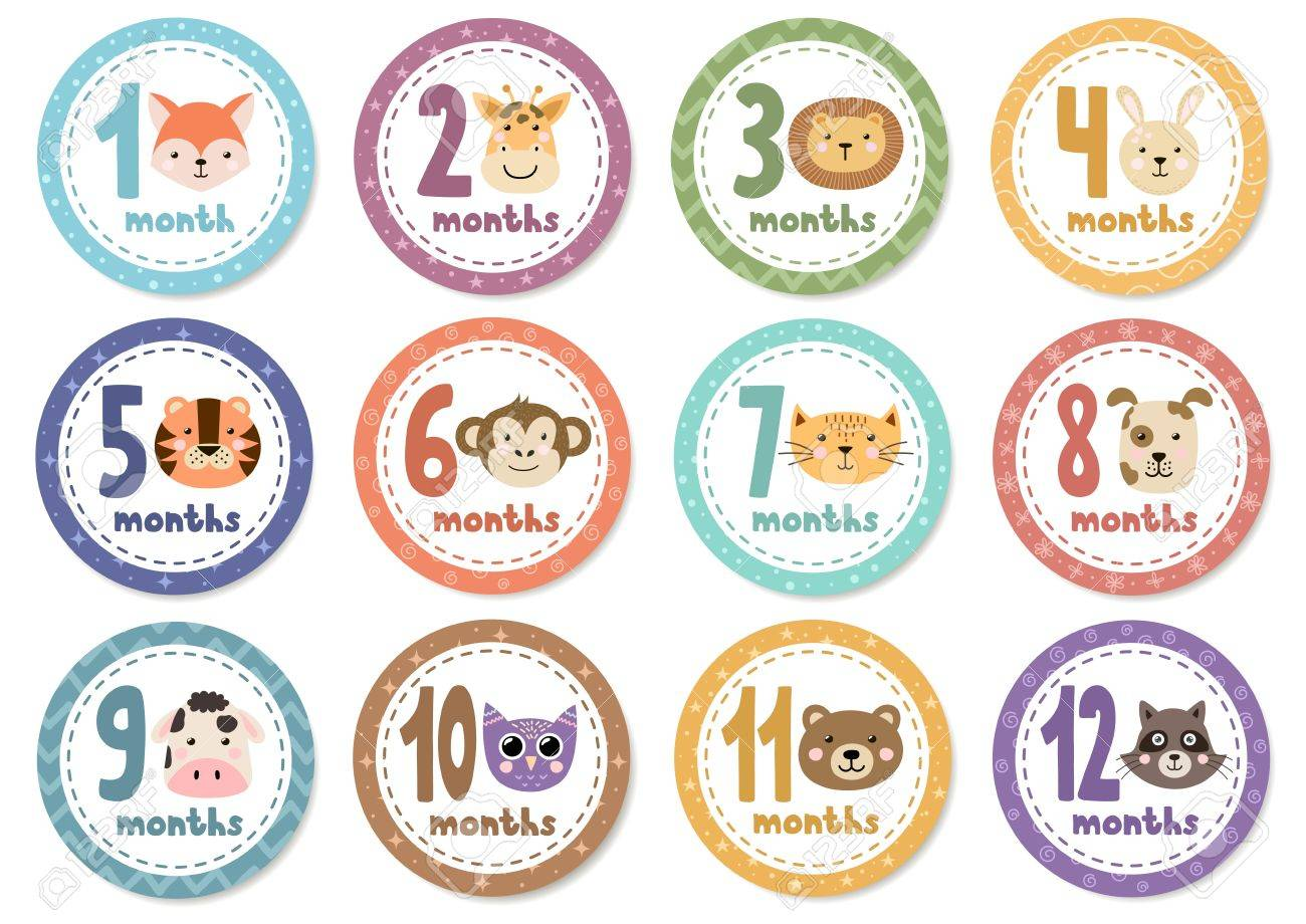 It's just a photo of Free Printable Baby Month Stickers in baby onesie