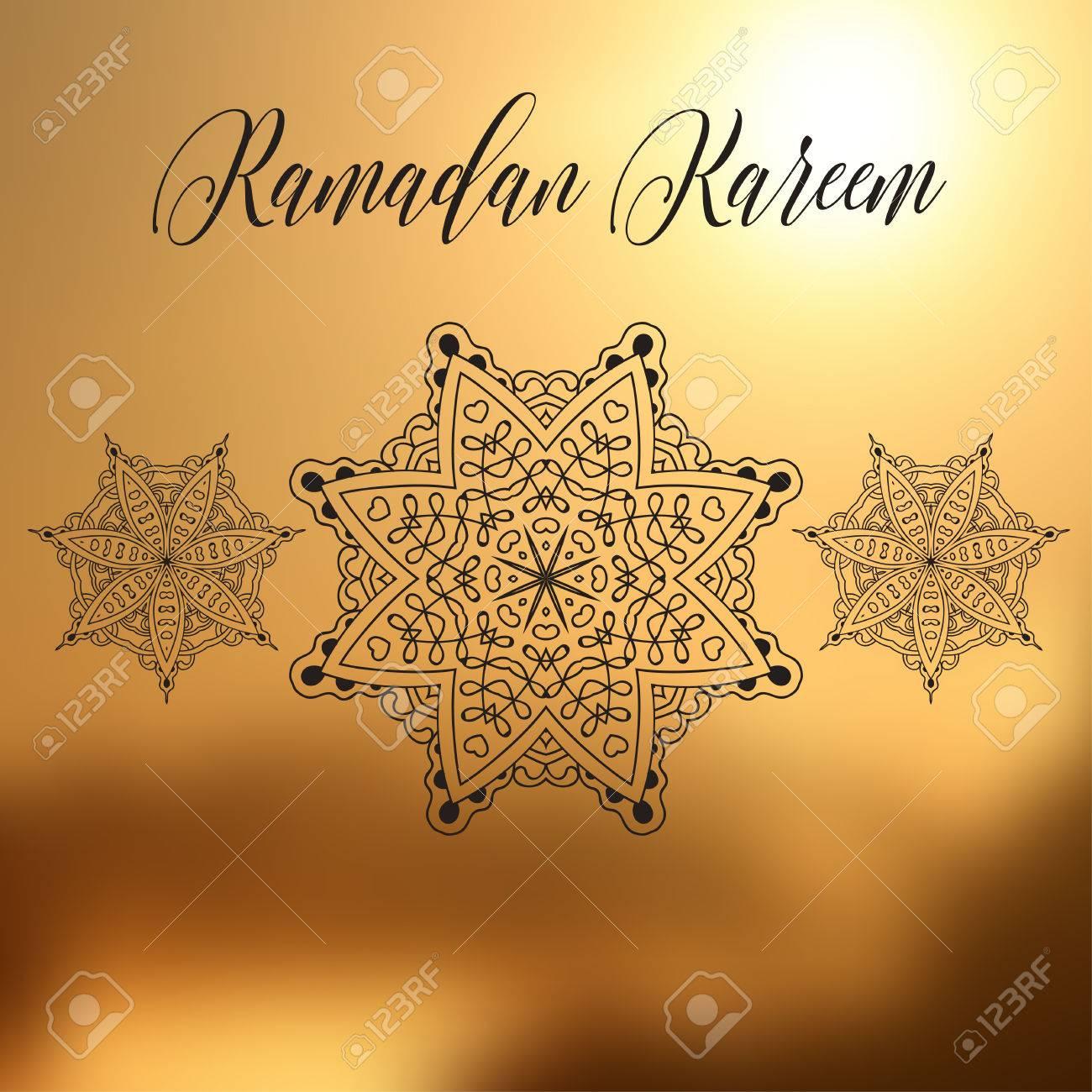 Ramadan kareem background with ornamental mandala greeting vector oriental illustration ramadan kareem background with ornamental mandala greeting card invitation for muslim community holy month stopboris Choice Image