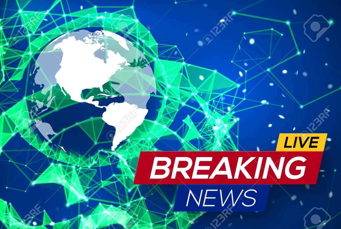 Breaking news live with world map on blue glowing plexus structure breaking news live with world map on blue glowing plexus structure background business technology news gumiabroncs Image collections