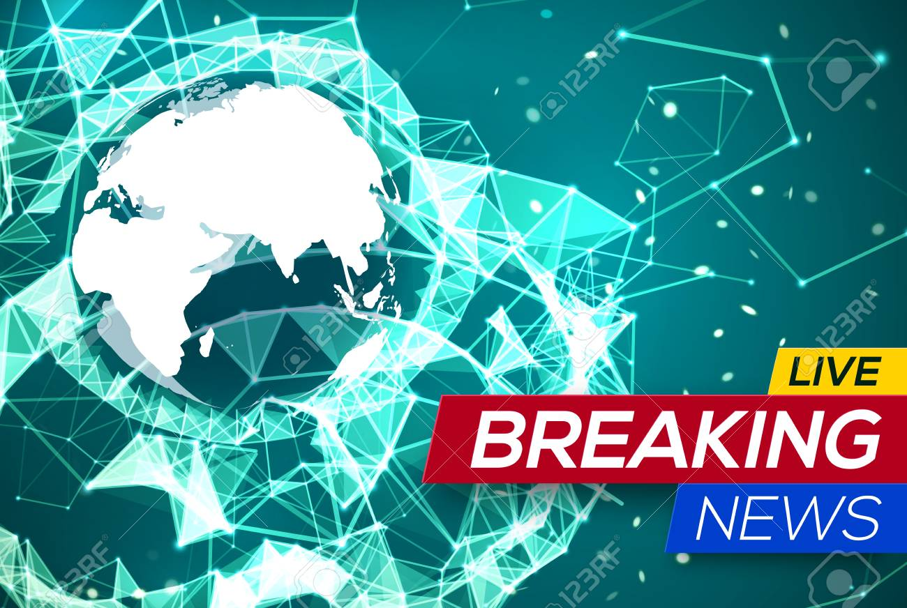 Breaking news live with world map africa and europe on green breaking news live with world map africa and europe on green structure background business technology gumiabroncs Image collections
