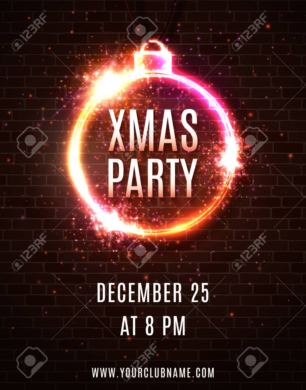 Free printable christmas party flyer templates.