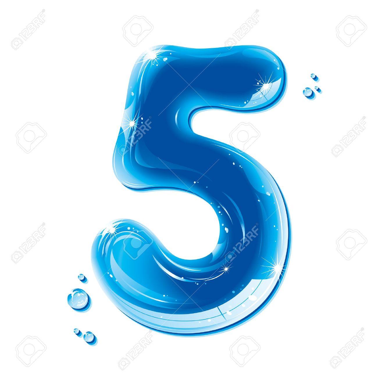 ABC series - Water Liquid Numbers - Number Five - 11237181
