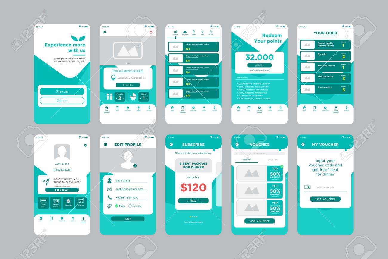 Restaurant App UI Kit Template - 146413840
