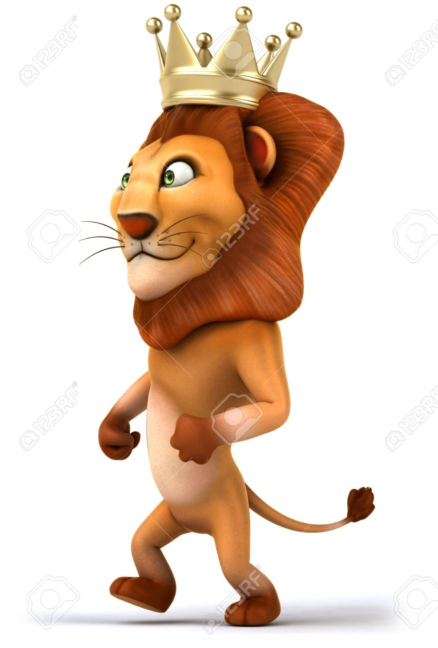Cartoon Lion King With A Crown Standing Stock Photo Picture And Royalty Free Image Image 79552074 Six african cartoon characters wearing national costumes. cartoon lion king with a crown standing