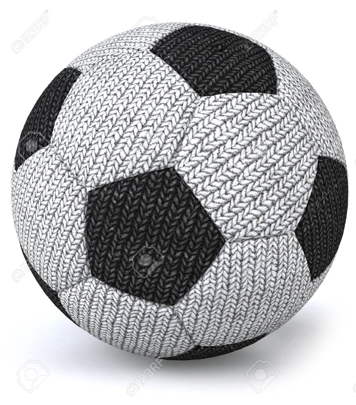 98474c190bd Cartoon knitted soccer ball Stock Photo - 82868812