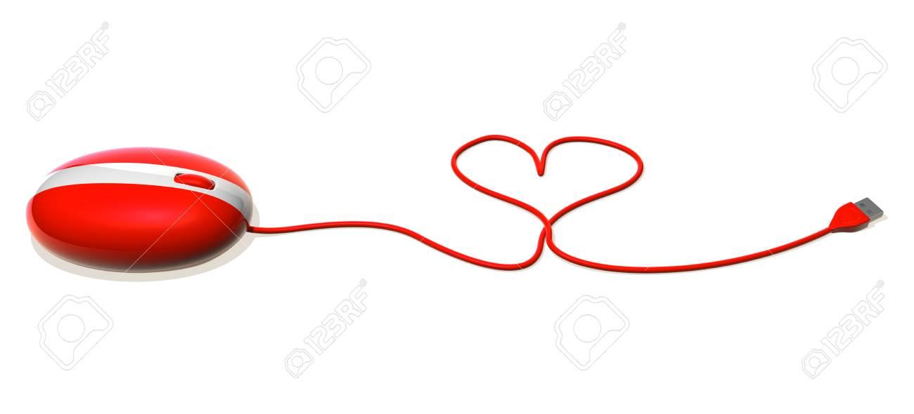 3D-Maus Mit Herzförmigem Kabel Lizenzfreie Fotos, Bilder Und Stock ...