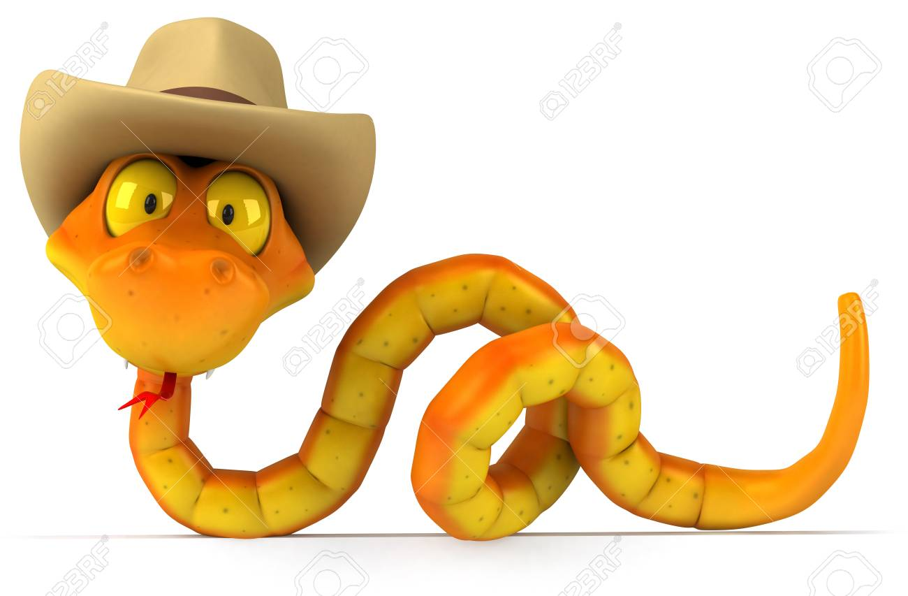 3a99f98036c Snake with cowboy hat