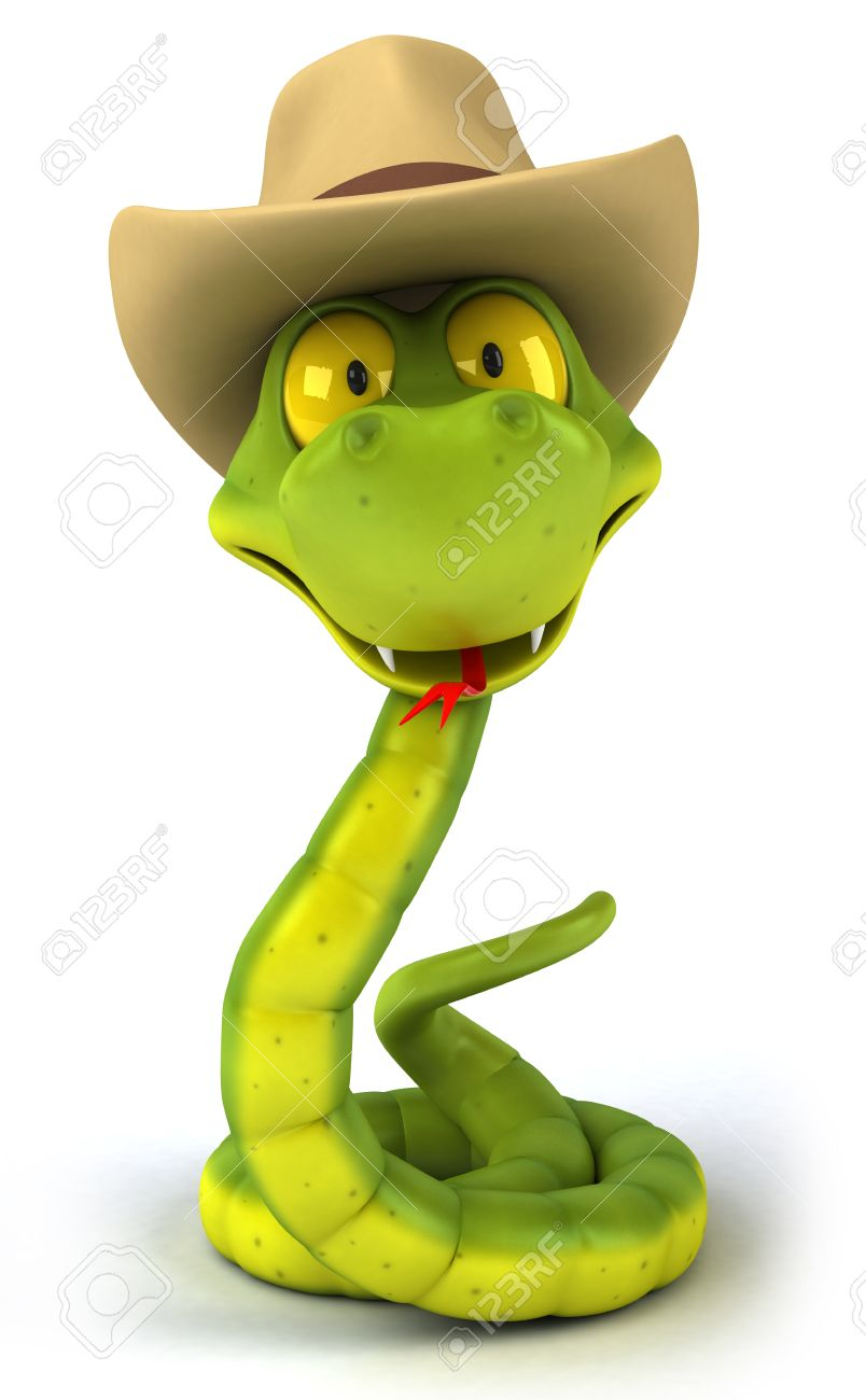 bf79778c608 Cartoon snake with cowboy hat