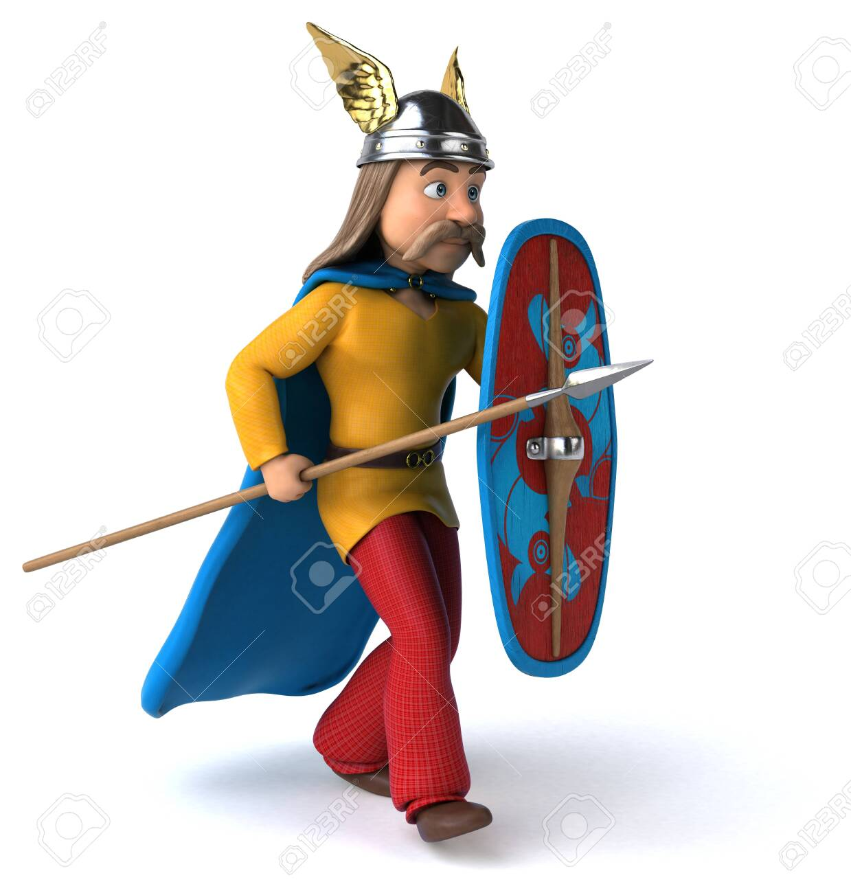 Gaul holding spear and shield