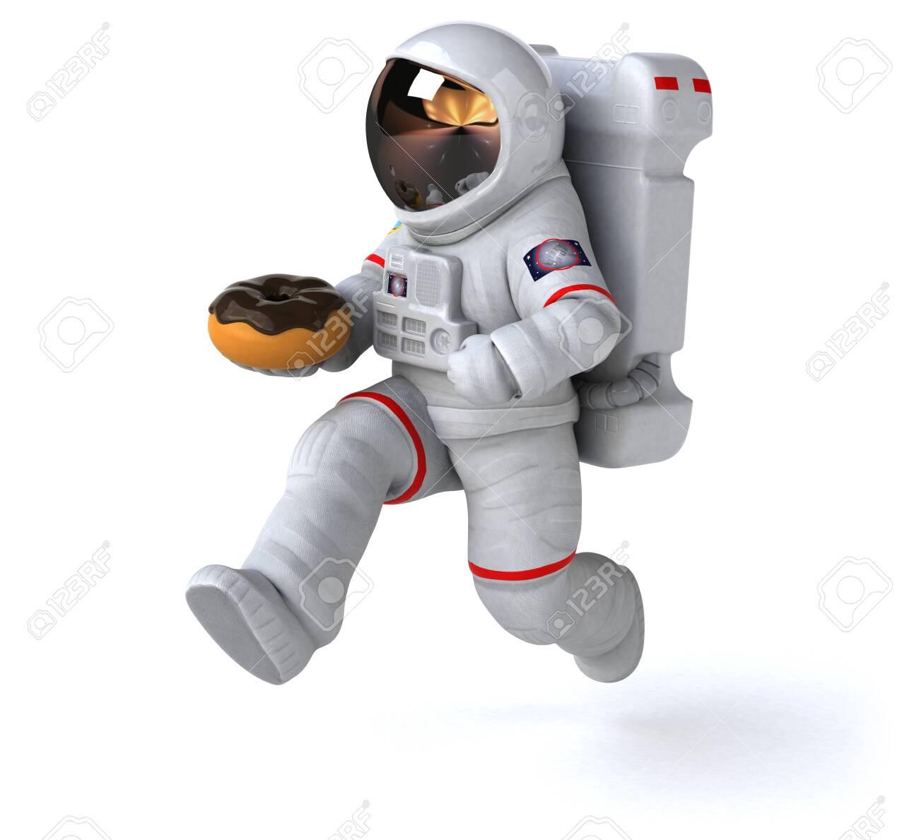 Fun astronaut - 3D Illustration - 131571138