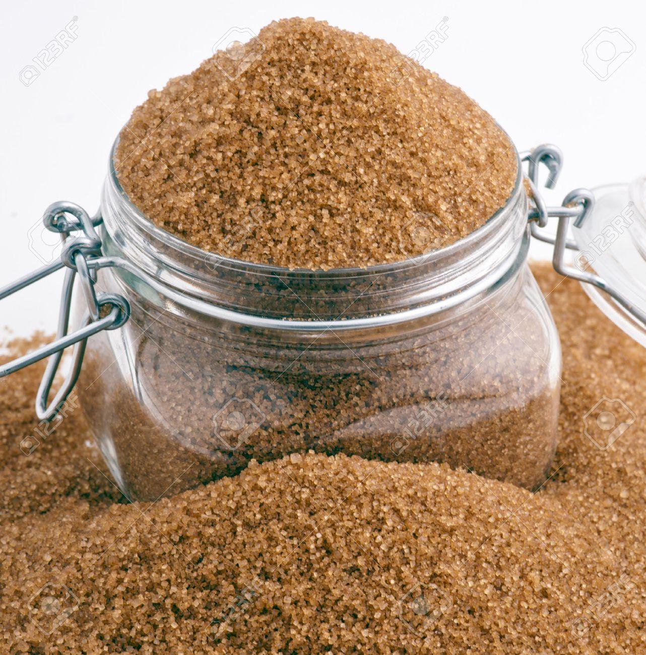 brown sugar in glass jar Stock Photo - 13089399