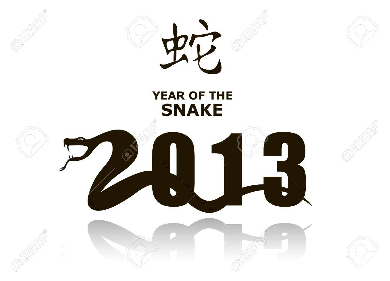 Snake sign 2013 Stock Vector - 13958600