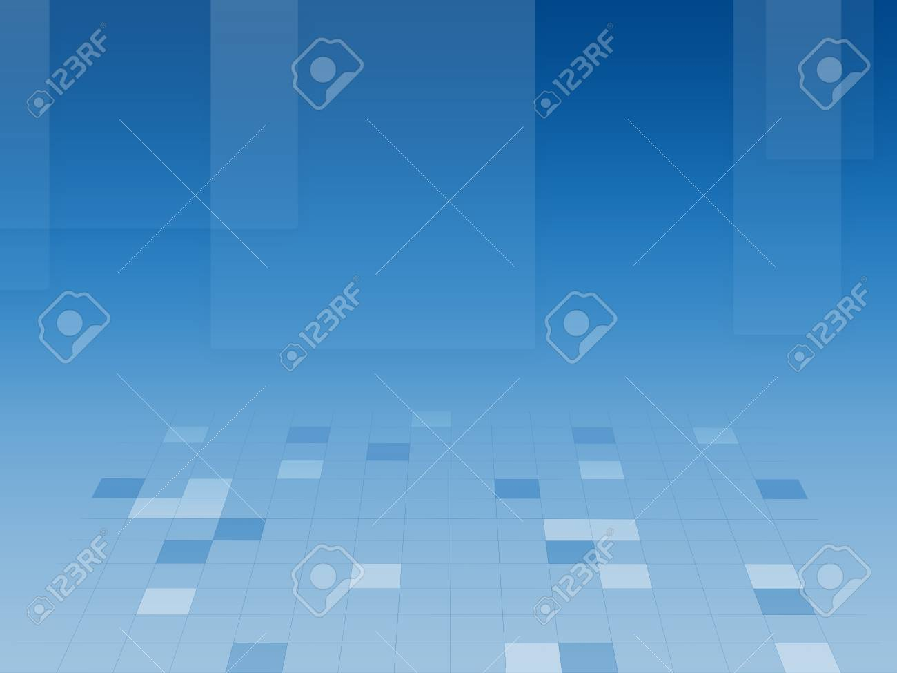 abstract blue background with square tile and mesh Stock Photo - 17774980