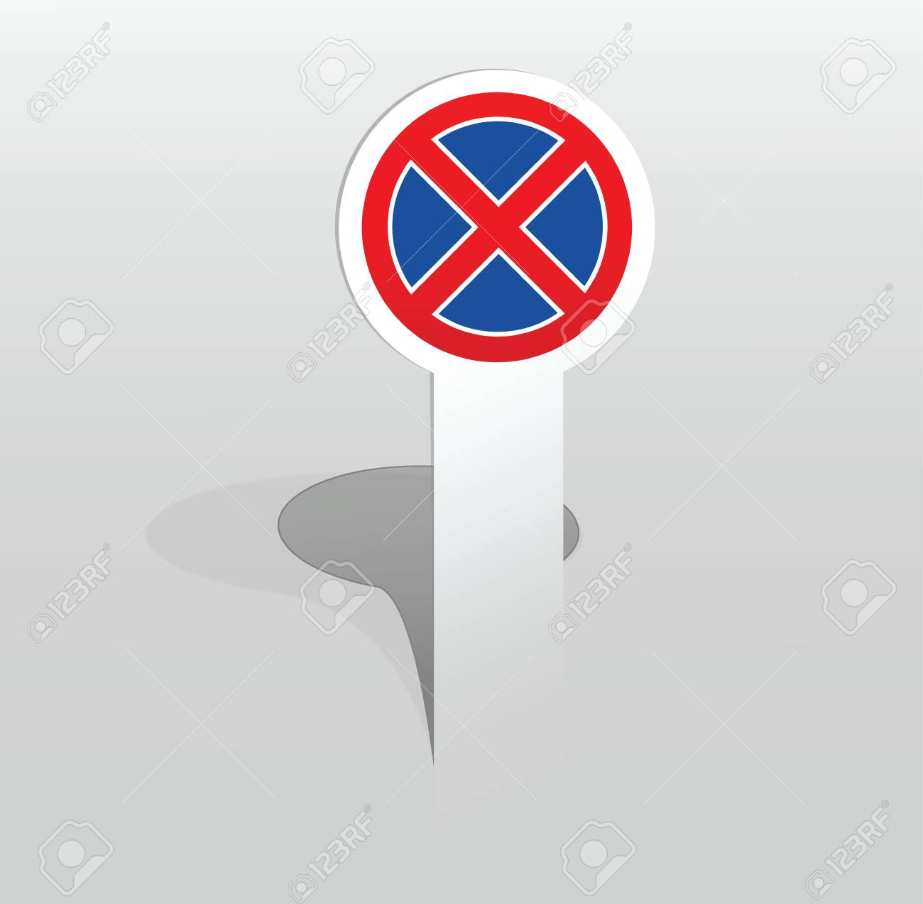 Vector illustration of paper sticker with no stopping sign Stock Vector - 17775033