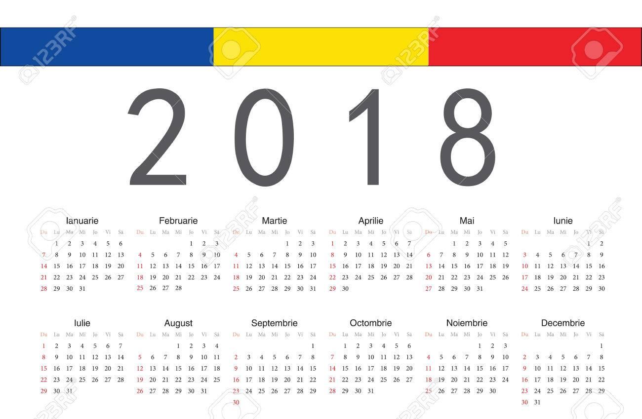 83 Romania Calendar Stock Vector Illustration And Royalty Free ...