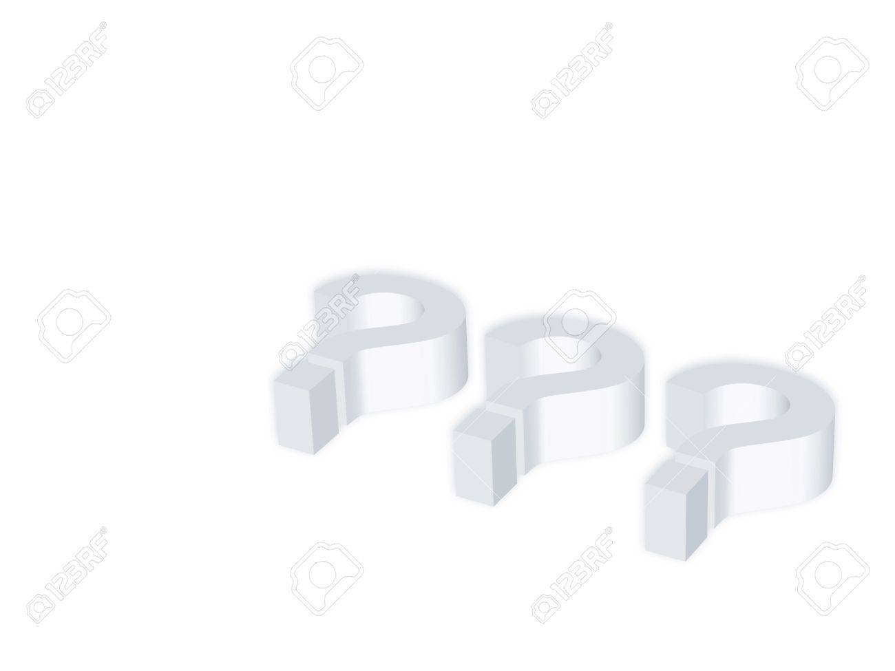 computer generated interrogative symbol on a white background Stock Photo - 2073583