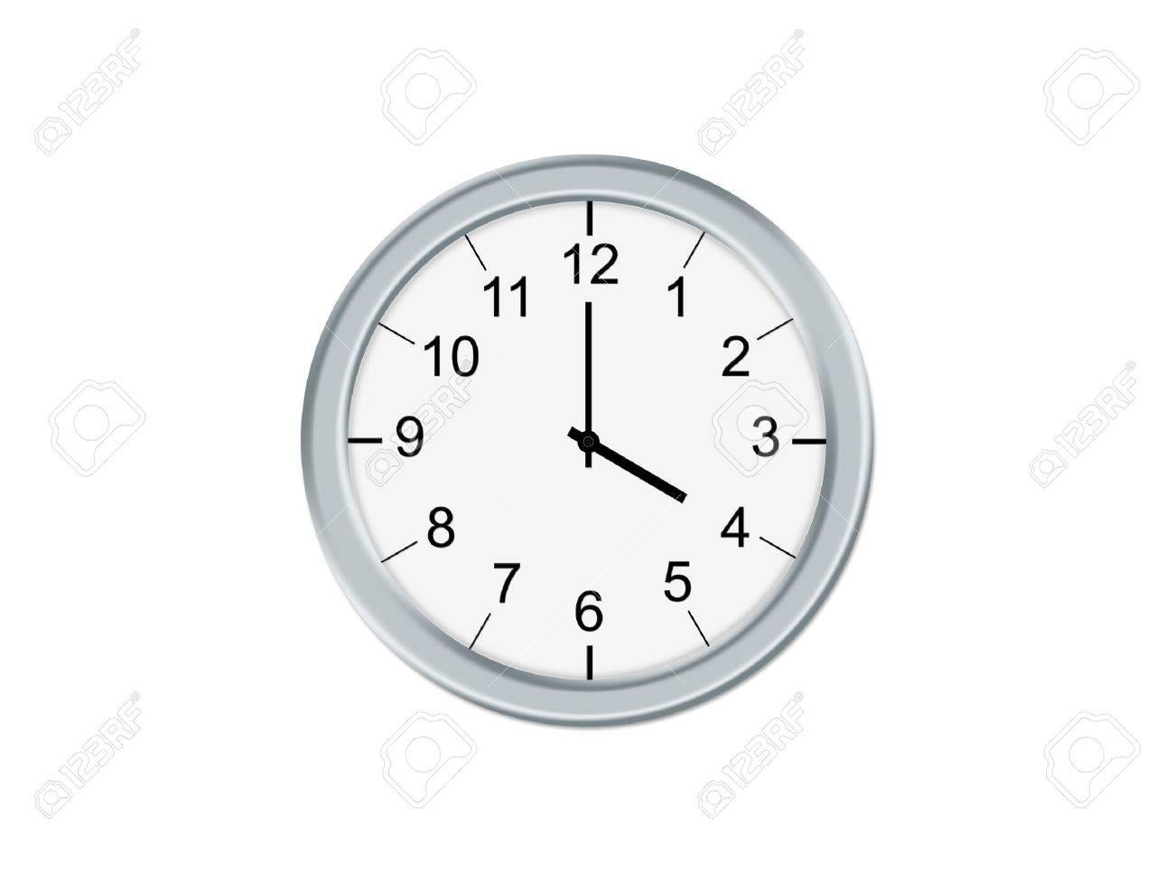 Analog clock isolated on a white background Stock Photo - 2103067