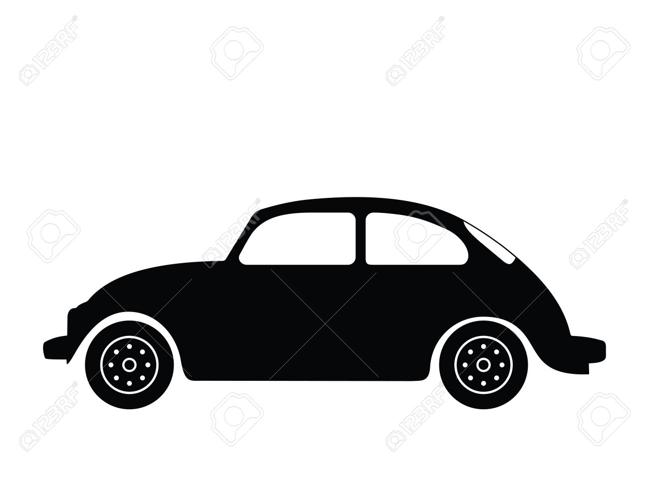 Silhouette old car, illustration - 2516586