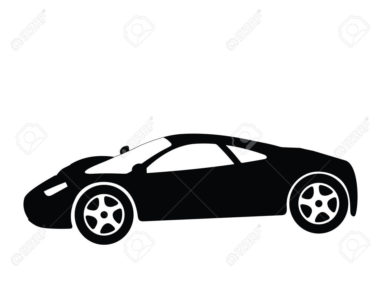 Silhouette a sport car, illustration Stock Illustration - 2563256