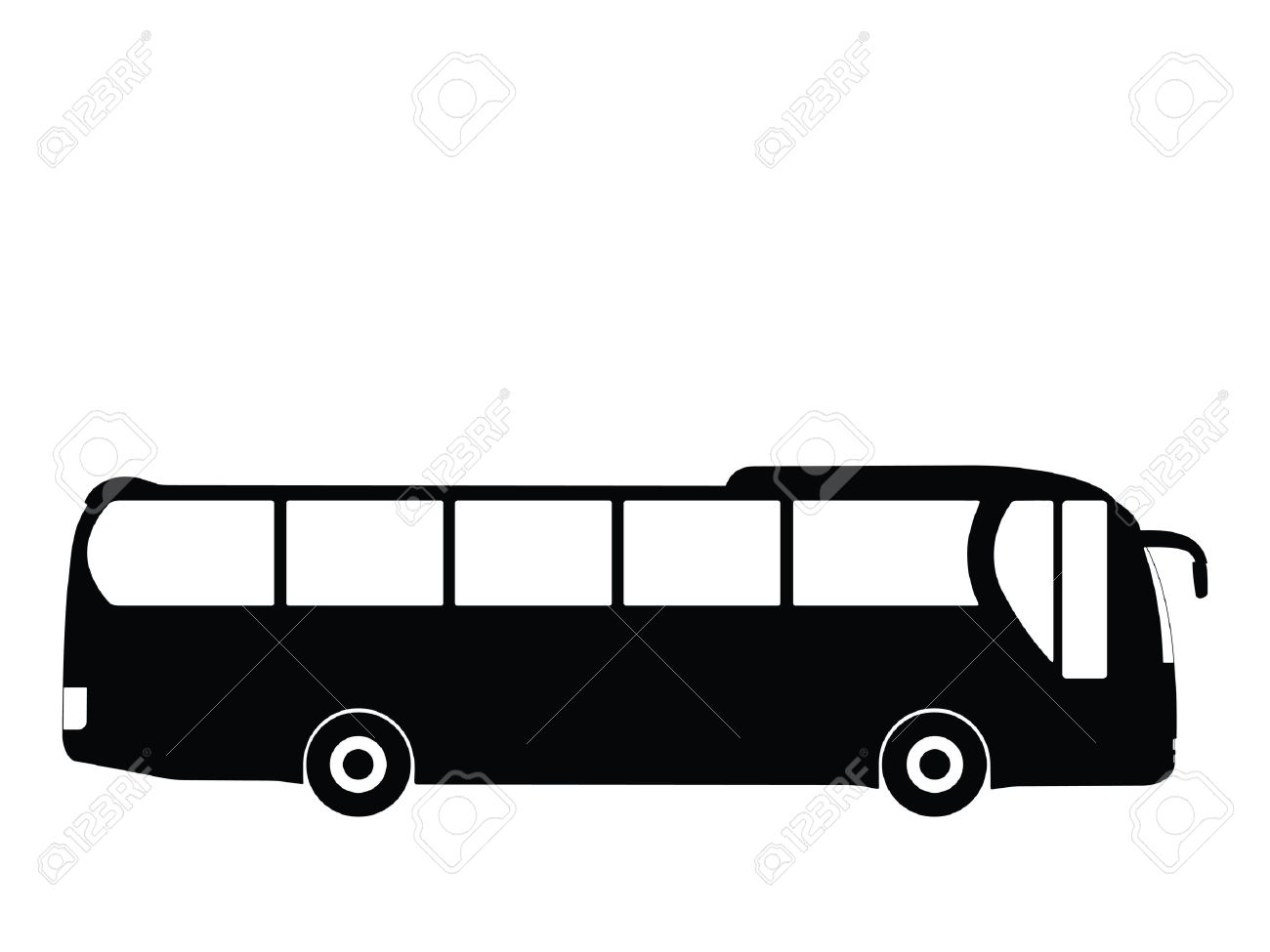 silhouette big bus vector illustration stock photo picture and rh 123rf com bus victoria to vancouver bus victoria to duncan