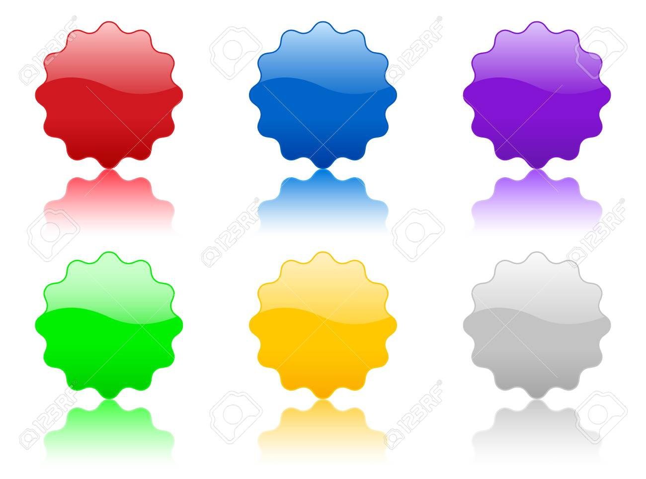 Color badge icon, isolated on white background Stock Photo - 3052348
