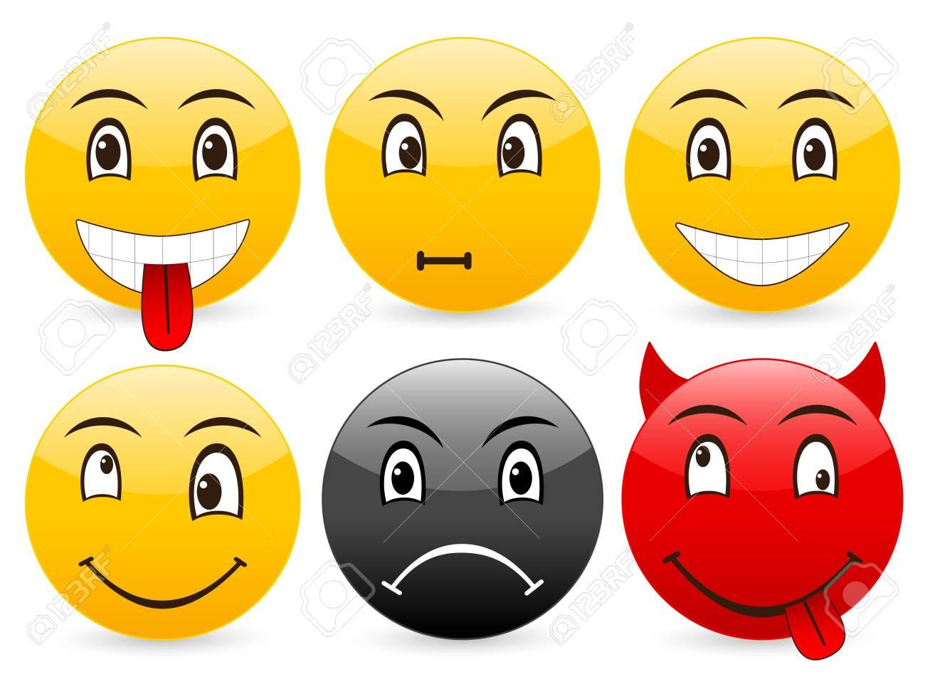 Smile set icon on a white background. Stock Photo - 3683496