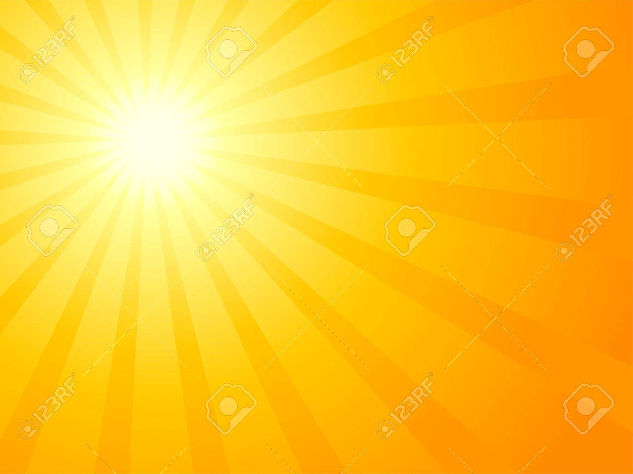 Orange sky and dramatic sun. Stock Vector - 8598927