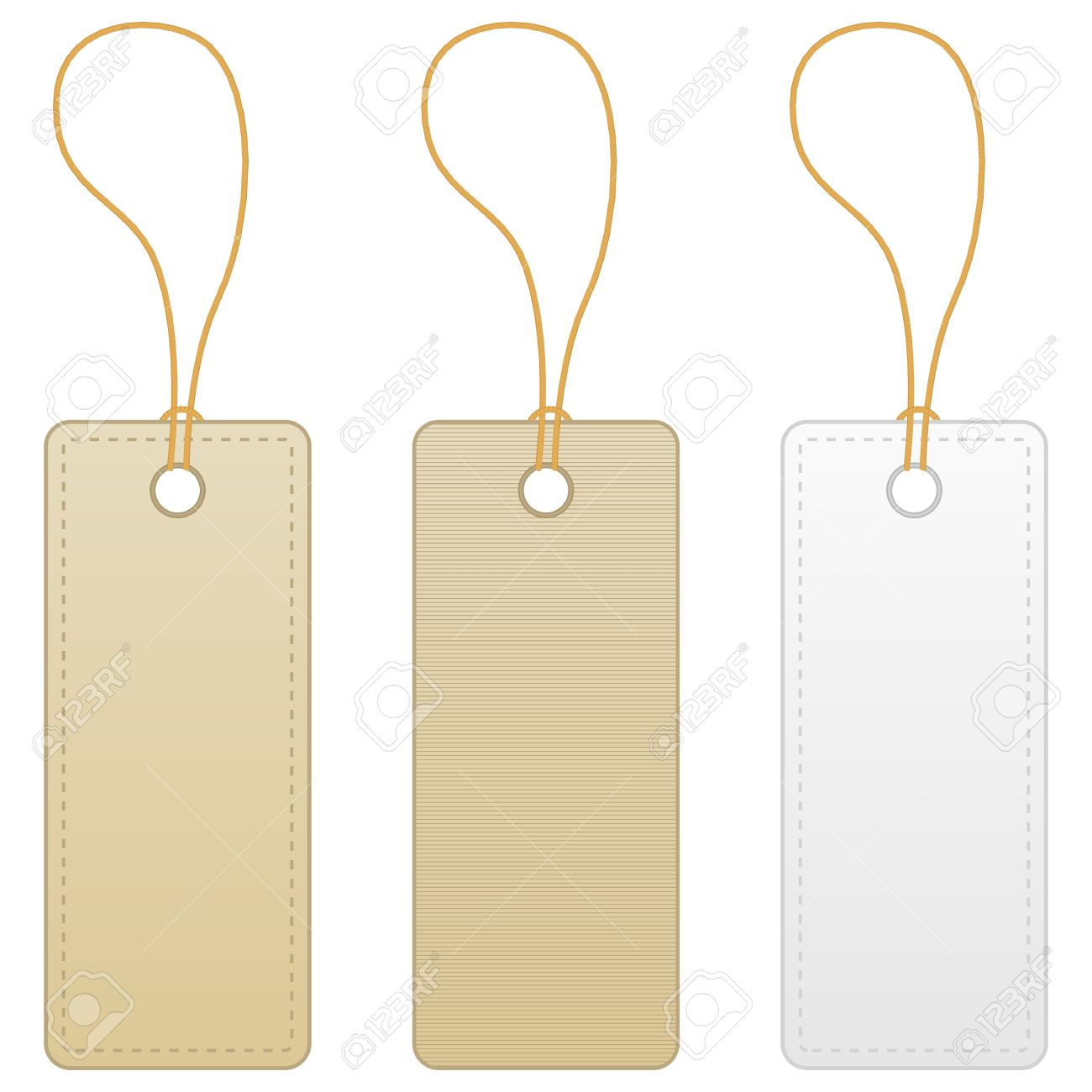 Blank Label Tag Isolated On White Background. Vector Illustration ...