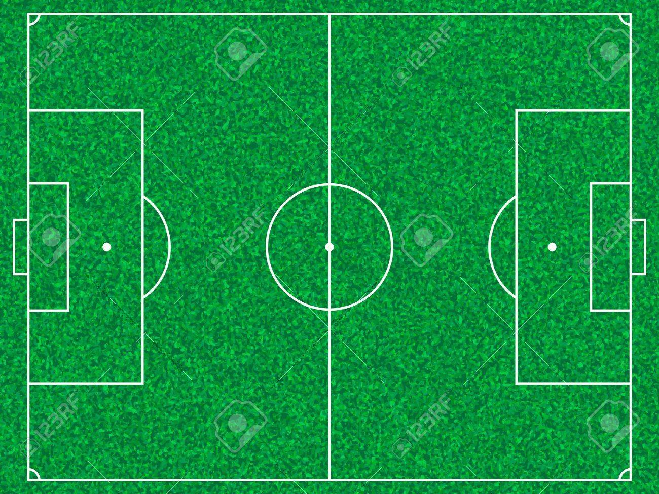 Soccer field with grass texture. Stock Vector - 9122103