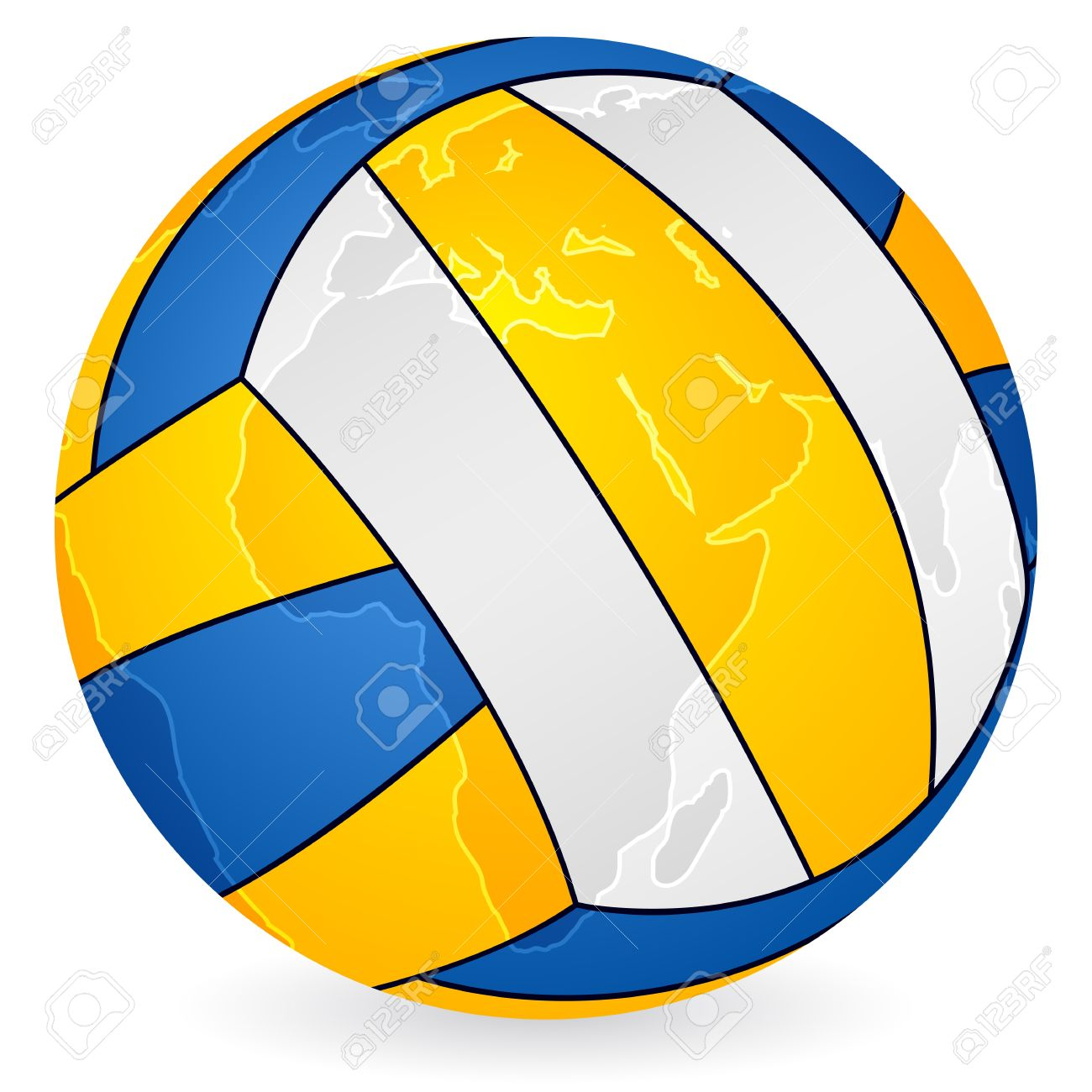 World map volleyball ball on a white background royalty free vector world map volleyball ball on a white background gumiabroncs Images