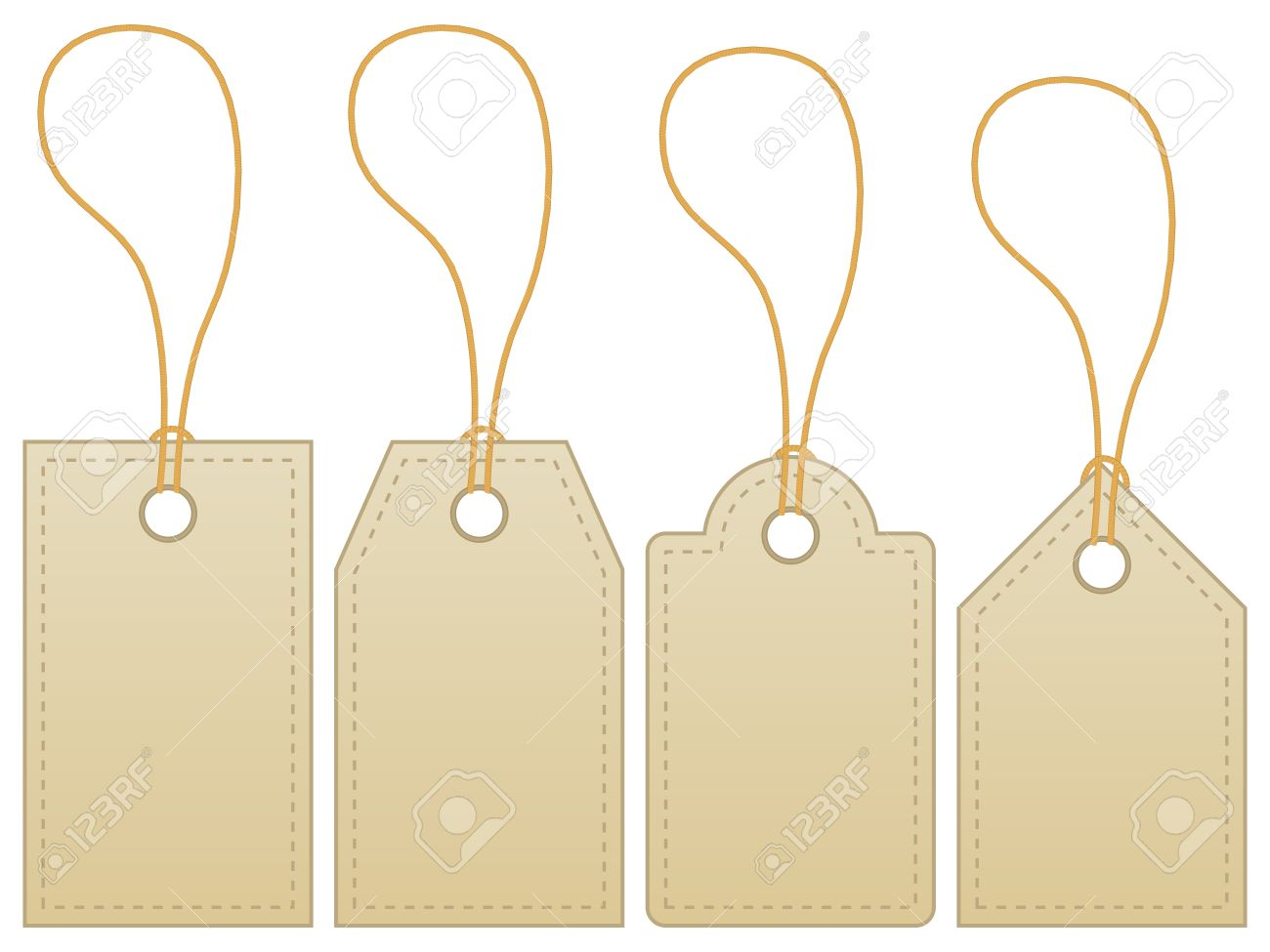 Blank Label Tag Isolated On White Background Stock Vector