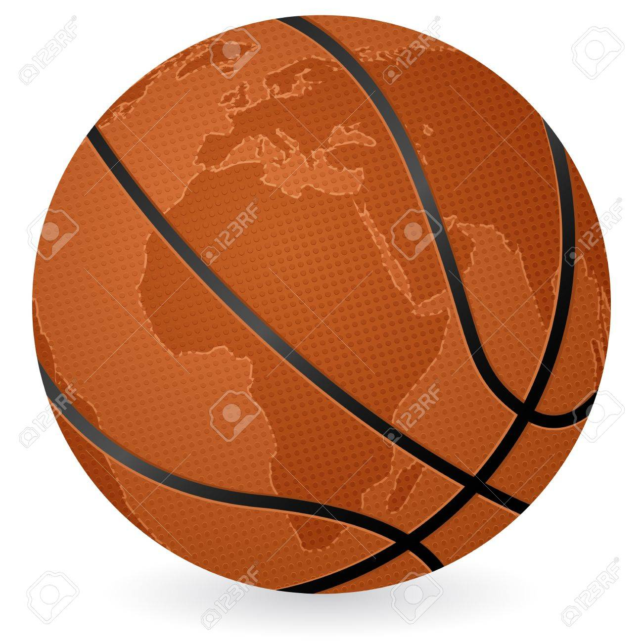 World map basketball ball on a white background vector illustration world map basketball ball on a white background vector illustration stock vector 10854626 gumiabroncs Images