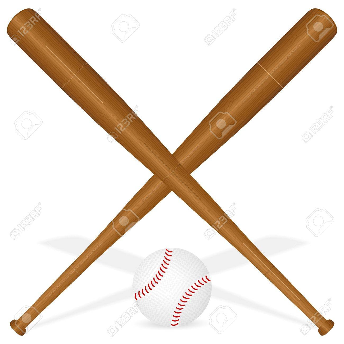 Baseball Bats And Ball On A White Background. Vector Illustration ...