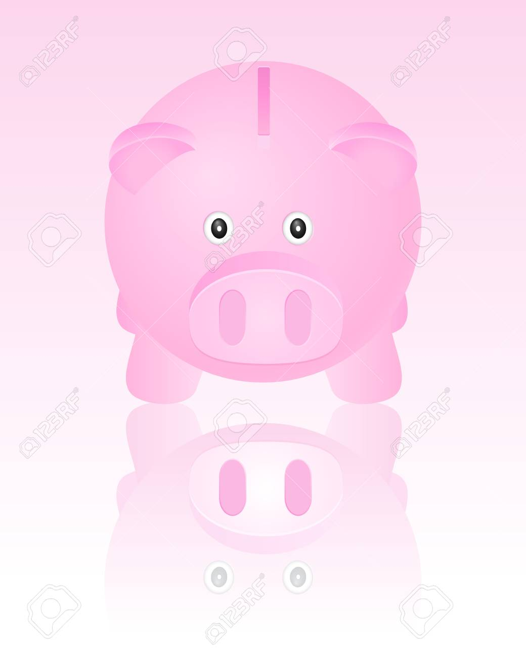 Pink piggy bank  Vector illustration Stock Vector - 13618286