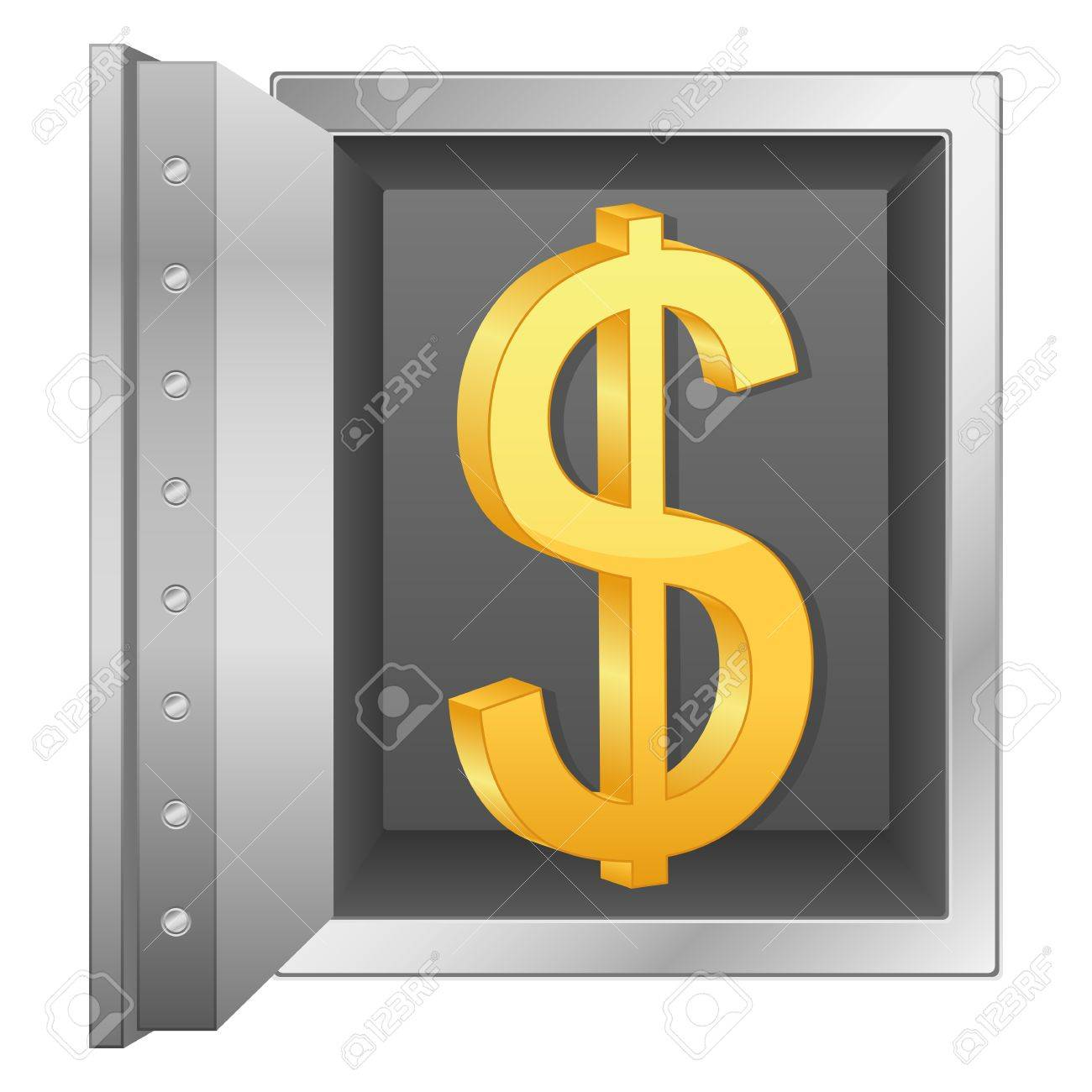 Bank safe with dollar symbol  Vector illustration Stock Vector - 14161936