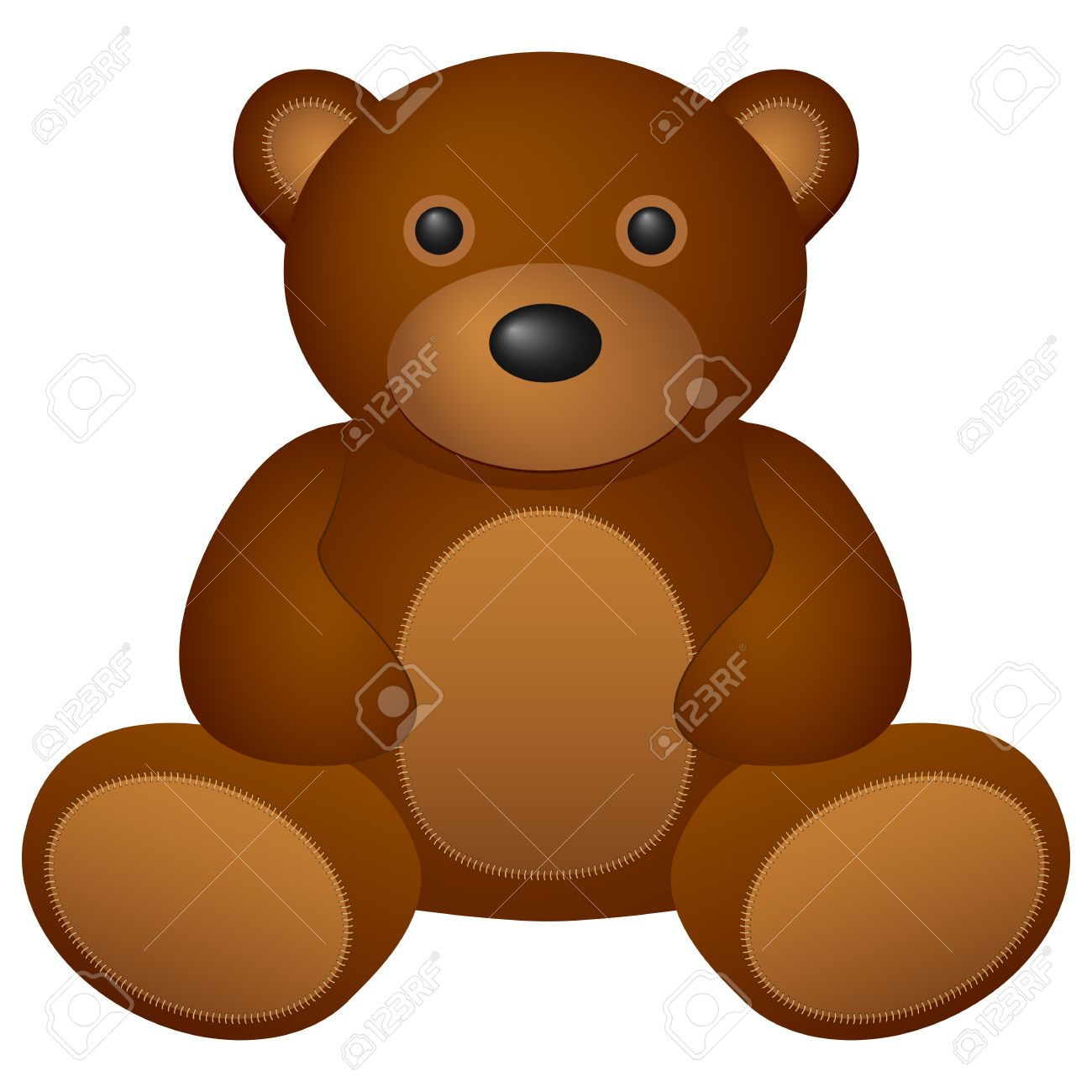 Teddy bear toy on a white background  Vector illustration Stock Vector - 14161950