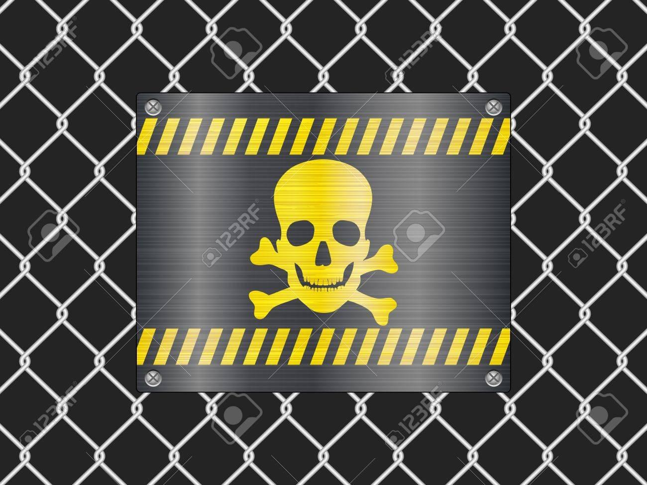 Drahtzaun Und Jolly Roger Zeichen Hintergrund Vektorkühle Lizenzfrei ...
