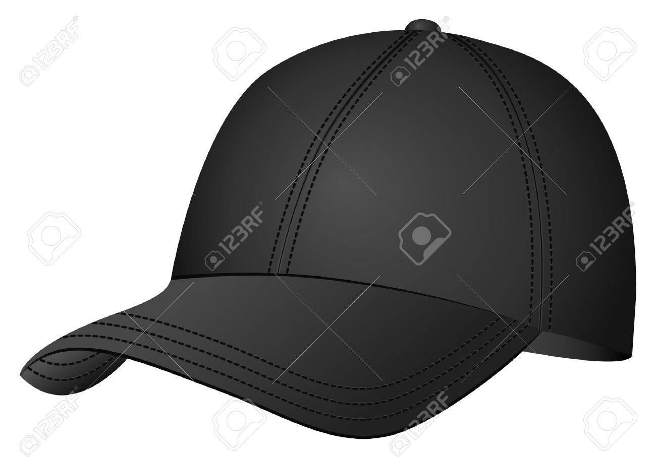野球帽白い背景の上ベクトル イラストのイラスト素材ベクタ