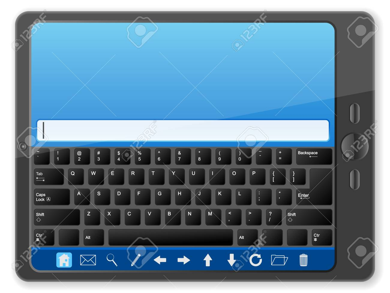 Tablet computer on a white background. Vector illustration. Stock Vector - 16038298