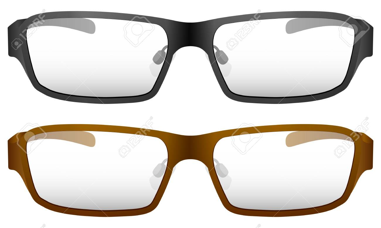 Glasses set on a white background. Stock Vector - 17163036