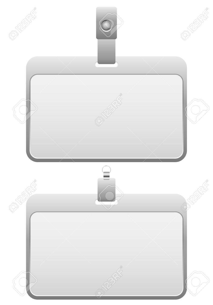 Name badge on a white background. Stock Vector - 17163048
