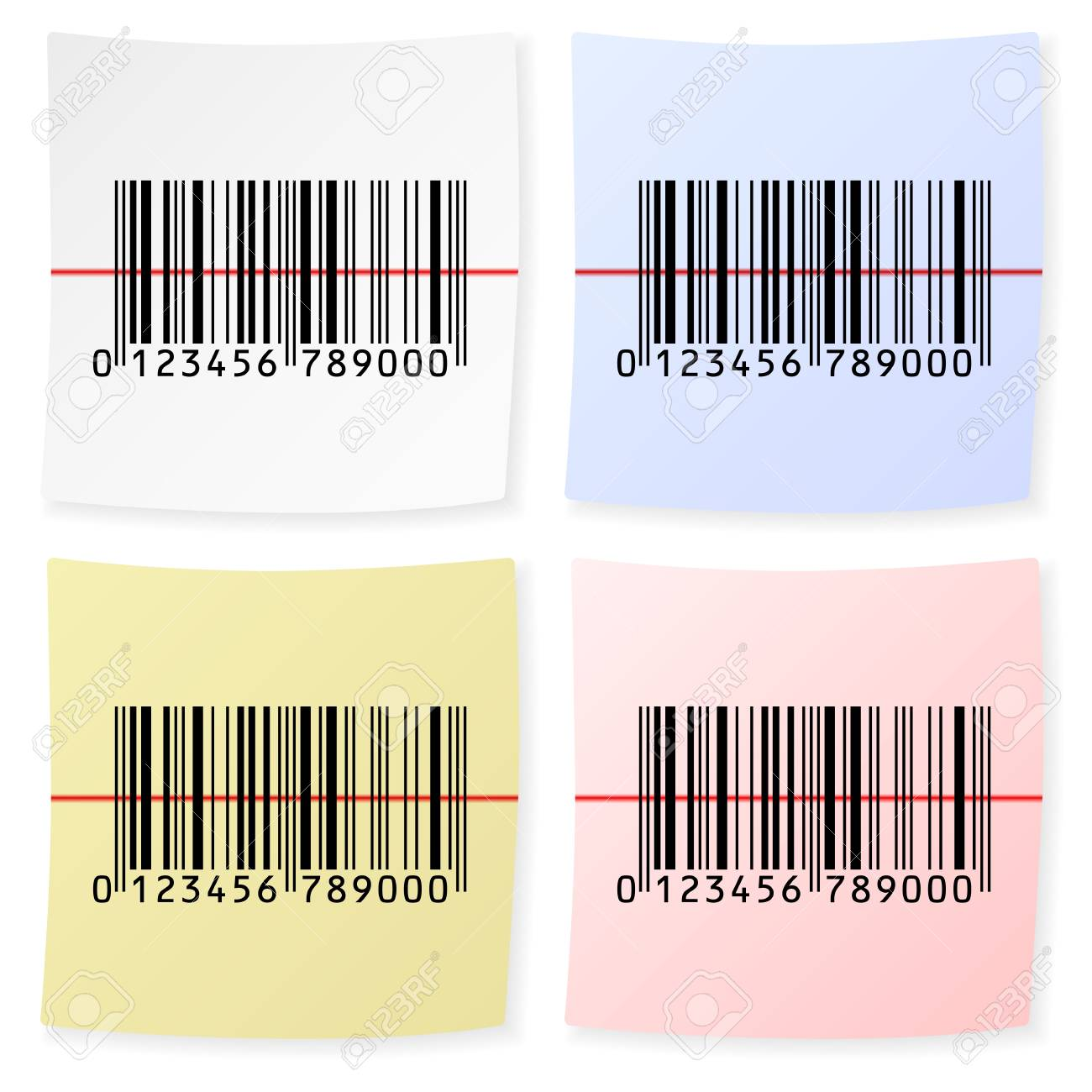 Barcode sticker on a white background Stock Vector - 17300620