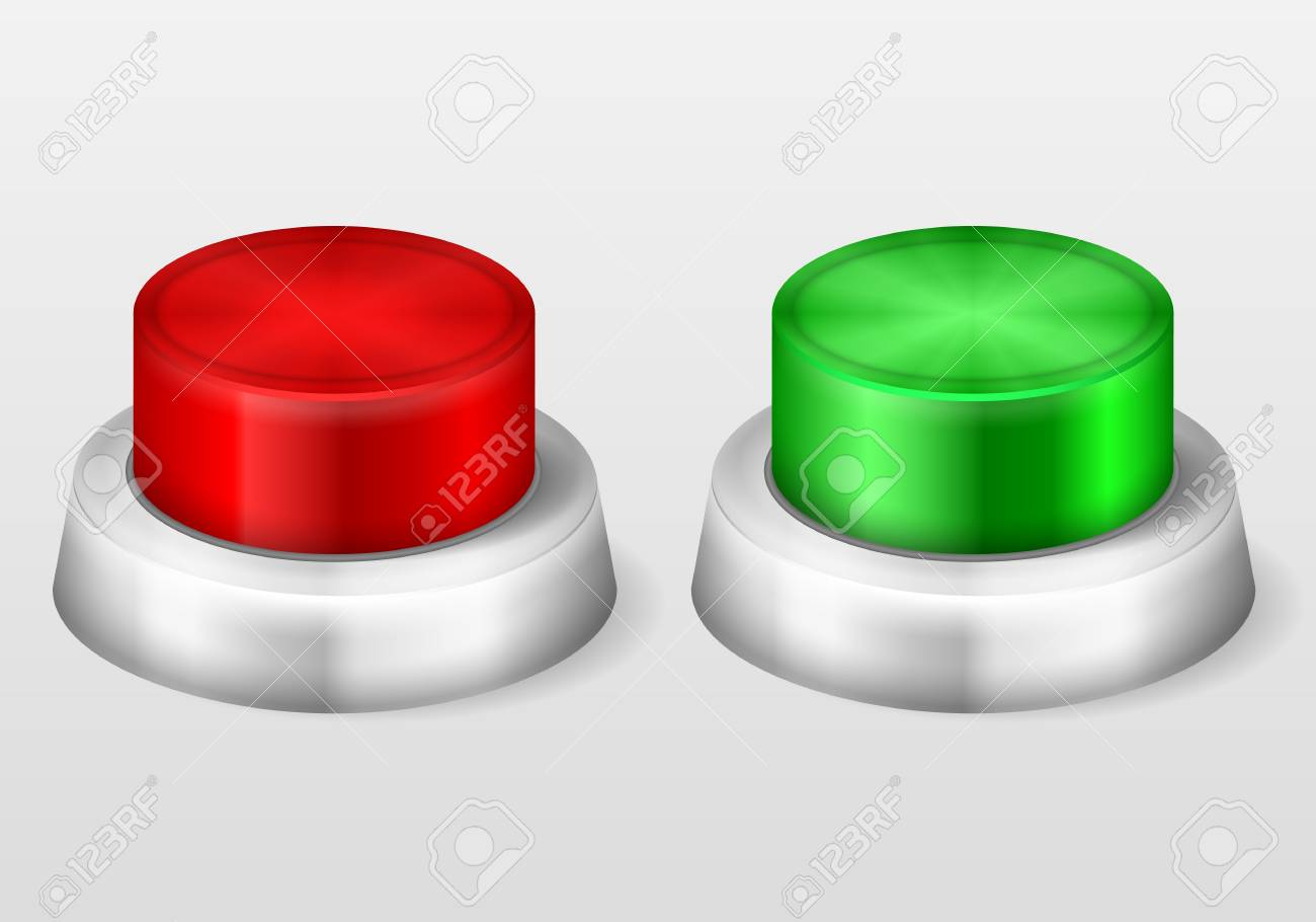 Stop and stop knob buttons on grey background. Stock Vector - 17300627