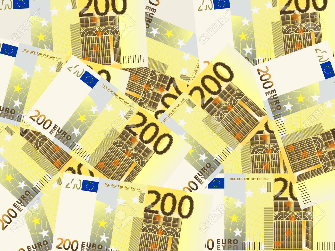 Background from a two hundred euro banknotes   illustration Stock Vector - 17854751